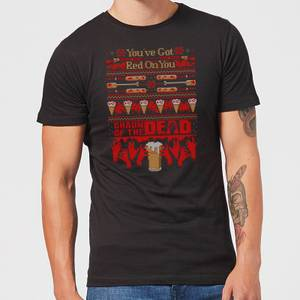 Shaun Of The Dead You've Got Red On You Christmas Men's T-Shirt - Black