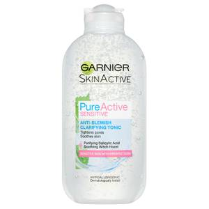 Garnier Pure Active Anti Blemish Clarifying Tonic Sensitive Skin 200ml