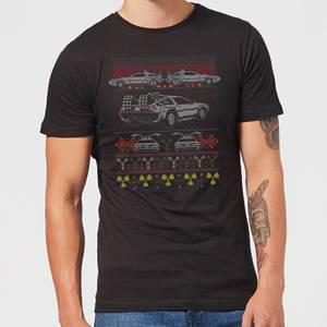 Camiseta Navideña Regreso al Futuro Back In Time For Christmas - Hombre - Negro