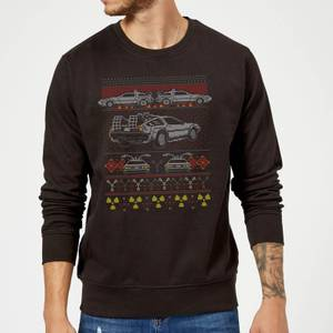 Back To The Future Back In Time for Christmas Sweater - Black