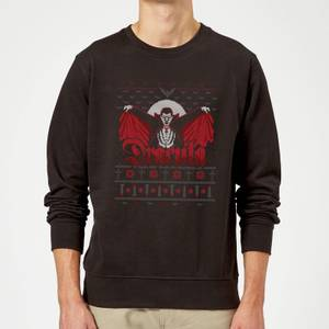 Universal Monsters Dracula Christmas Sweater - Black