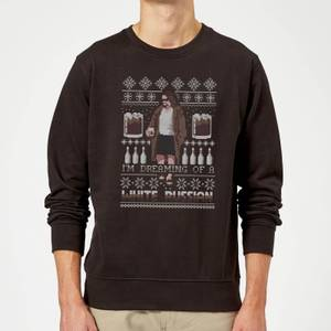 Pull de Noël Homme I'm Dreaming Of A White Russian The Big Lebowski - Noir