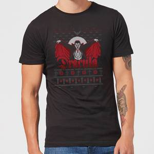 Universal Monsters Dracula Christmas Men's T-Shirt - Black