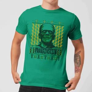 Universal Monsters Frankenstein Christmas Men's T-Shirt - Kelly Green