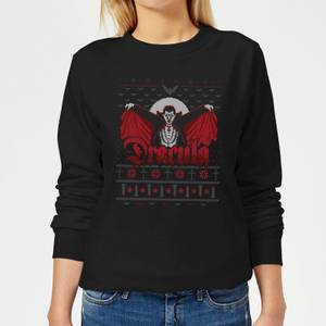 Universal Monsters Dracula Christmas Women's Sweatshirt - Black