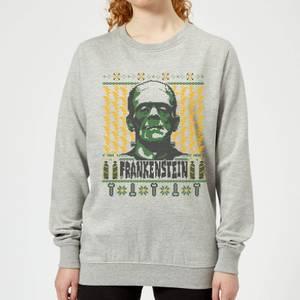 Universal Monsters Frankenstein Christmas Women's Sweatshirt - Grey