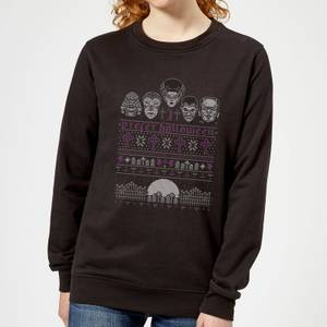 Universal Monsters I Prefer Halloween Women's Sweatshirt - Black