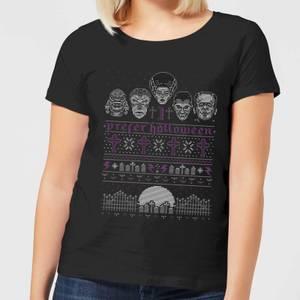 Universal Monsters I Prefer Halloween Women's T-Shirt - Black