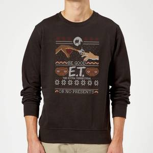 E.T. the Extra-Terrestrial Be Good or No Presents Sweatshirt - Black