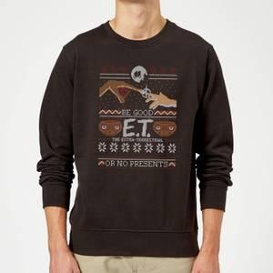 E.T. the Extra-Terrestrial Be Good Or No Presents Kersttrui - Zwart