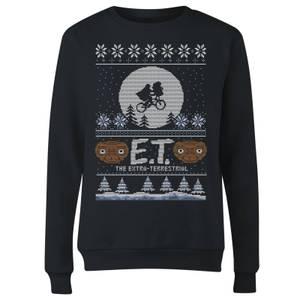 E.T. the Extra-Terrestrial Christmas Women's Sweatshirt - Black