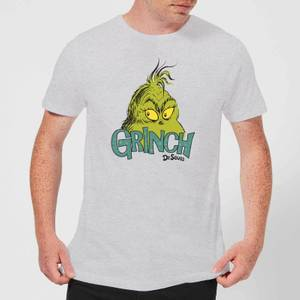 The Grinch Face Men's Christmas T-Shirt - Grey