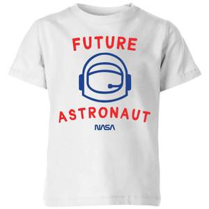 NASA Space Cadets Future Astronaut Kids' T-Shirt - White