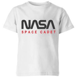 NASA Space Cadets Chest Kids' T-Shirt - White