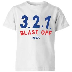NASA Space Cadets 321 Blast Off Kids' T-Shirt - White