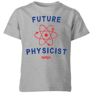 NASA Space Cadets Future Physicist Kids' T-Shirt - Grey