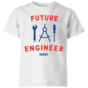 NASA Space Cadets Future Engineer Kids' T-Shirt - White