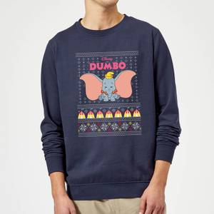 Disney Classic Dumbo Christmas Sweatshirt - Navy