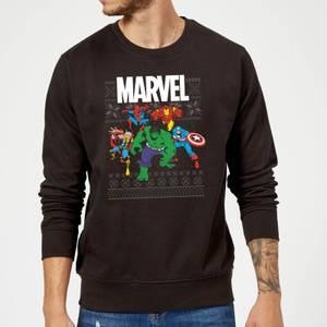 Marvel Avengers Group Weihnachtspullover - Schwarz