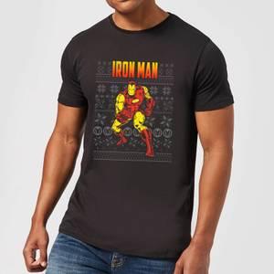 Marvel Avengers Classic Iron Man Men's Christmas T-Shirt - Black