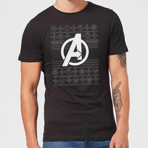 Marvel Avengers Logo Men's Christmas T-Shirt - Black