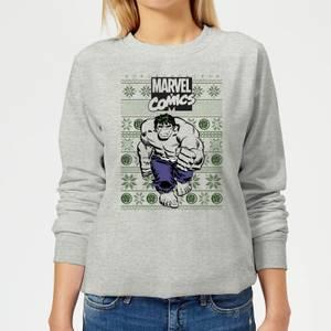 Marvel Avengers Hulk Women's Christmas Sweatshirt - Grey