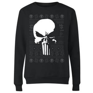 Marvel Punisher Women's Christmas Sweatshirt - Black