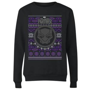 Marvel Avengers Black Panther Women's Christmas Sweatshirt - Black