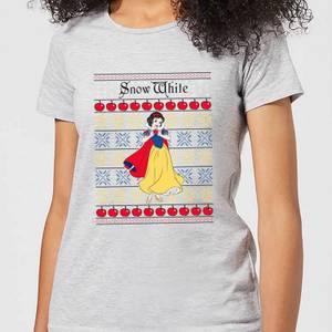 Disney Classic Snow White Dames kerst T-shirt - Grijs