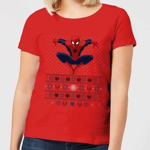 Marvel Avengers Spider-Man Women's Christmas T-Shirt - Red