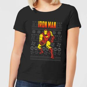 Marvel Avengers Classic Iron Man Women's Christmas T-Shirt - Black