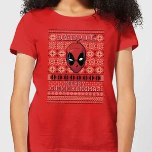 Marvel Deadpool Women's Christmas T-Shirt - Red