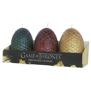 Game of Thrones Sculpted Candles Eggs (Set of 3)