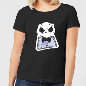 Nightmare Before Christmas Jack Skellington Angry Face Women's T-Shirt - Black