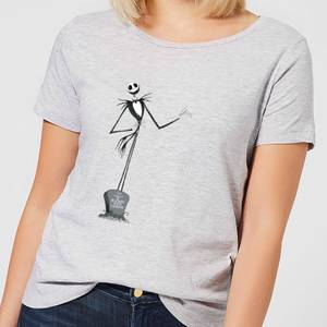 Nightmare Before Christmas Jack Skellington Full Body Women's T-Shirt - Grey