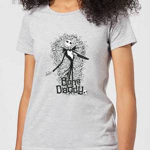 Nightmare Before Christmas Jack Skellington Bone Daddy Women's T-Shirt - Grey
