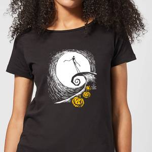 Nightmare Before Christmas Jack Skellington Pumpkin King Women's T-Shirt - Black