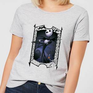 Nightmare Before Christmas Jack Skellington Zero Pose Women's T-Shirt - Grey