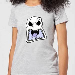Nightmare Before Christmas Jack Skellington Angry Face Women's T-Shirt - Grey
