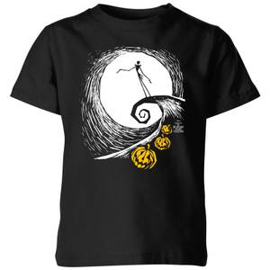 The Nightmare Before Christmas Jack Skellington Pumpkin King Kids' T-Shirt - Black