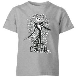 The Nightmare Before Christmas Jack Skellington Bone Daddy Kids' T-Shirt - Grey