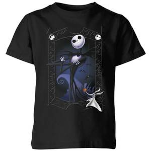 The Nightmare Before Christmas Jack Skellington Zero Pose Kids' T-Shirt - Black