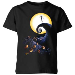 The Nightmare Before Christmas Jack Skellington Pumpkin King Colour Kids' T-Shirt - Black