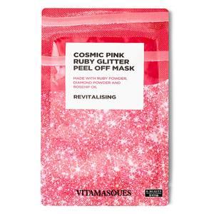 Vitamasques Cosmic Pink Ruby Glitter Peek Off Mask