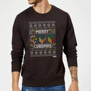Rubiks Merry Cubemas Christmas Sweatshirt - Black