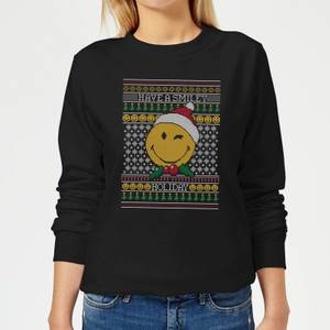 Felpa Smiley World Have A Smiley Holiday Christmas - Nero - Donna