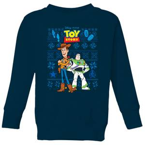 Disney Toy Story Kids Christmas Sweatshirt - Navy