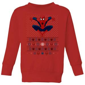 Marvel Avengers Spider-Man Kids Christmas Sweater - Red