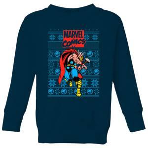 Marvel Avengers Thor Kids Christmas Sweatshirt - Navy