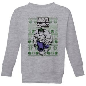 Marvel Avengers Hulk Kids Christmas Sweatshirt - Grey